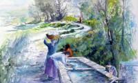 Lavandare al fontanile