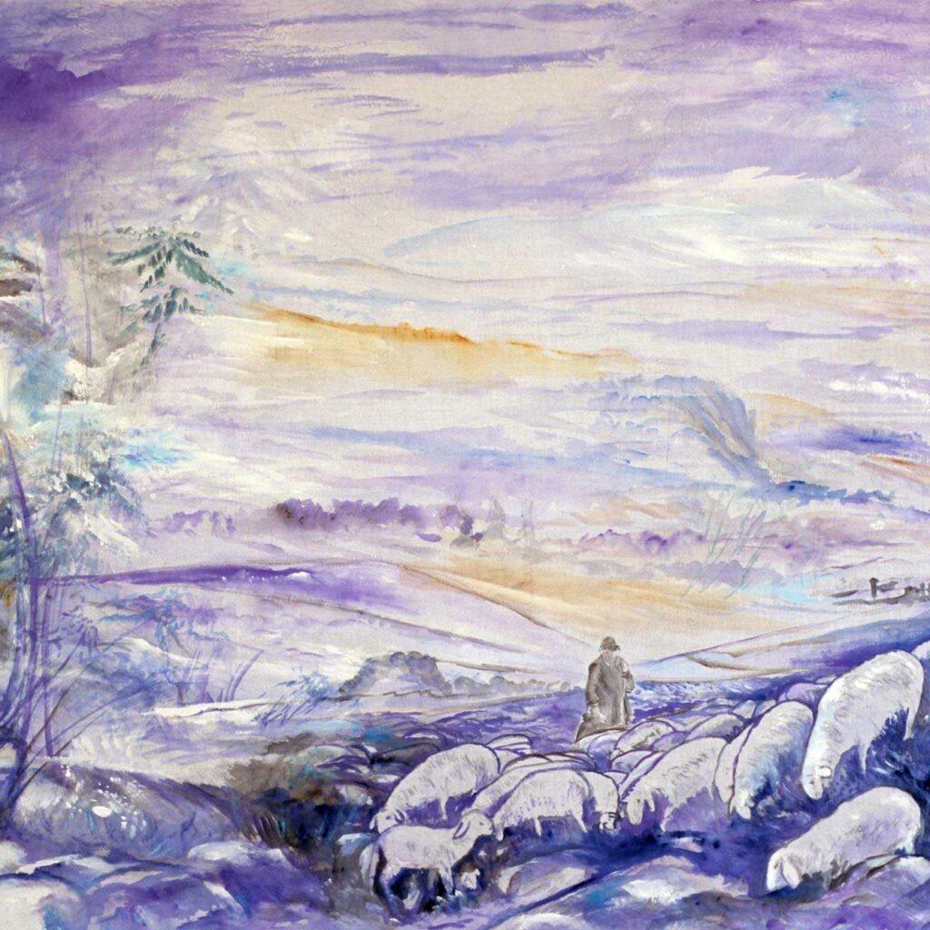 Presepe In Acciaieria, Paesaggio Con Pastori