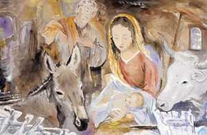 Presepe in acciaieria, la sacra famiglia