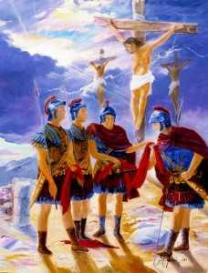 Via Crucis, Gesù è crocifisso tra 2 ladroni