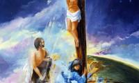 Via Crucis, Crocifissione con la Madonna e San Giovanni