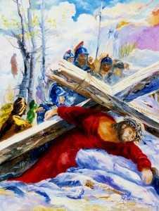 Via Crucis, Gesù cade la terza volta