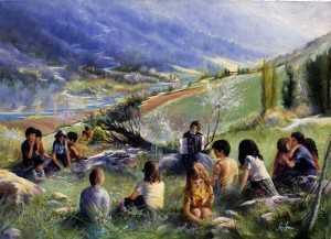 Giovani sul prato