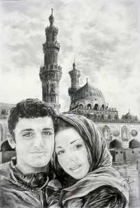 Ritratto di giovani con moschea