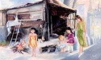 Periferie povere con bambine