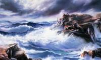 Paesaggio marino, mare tempestoso
