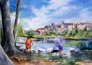 Lavandare al fiume
