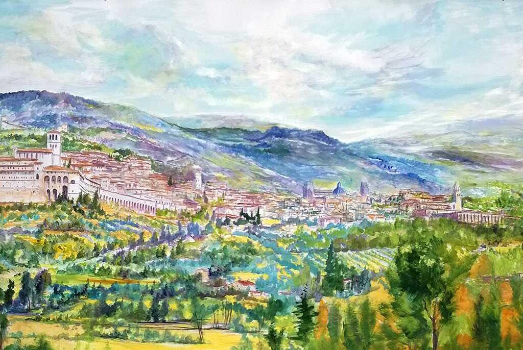 Giovanni Ferri, Terni, Assisi, Acrilico, Collaborazione Con Carla Massarini E Renato Antonini