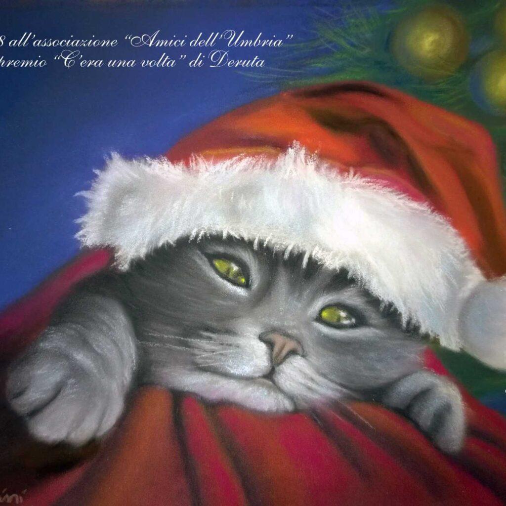 Carla Massarini, Auguri Di Buon Natale 2017, Gatto Natale